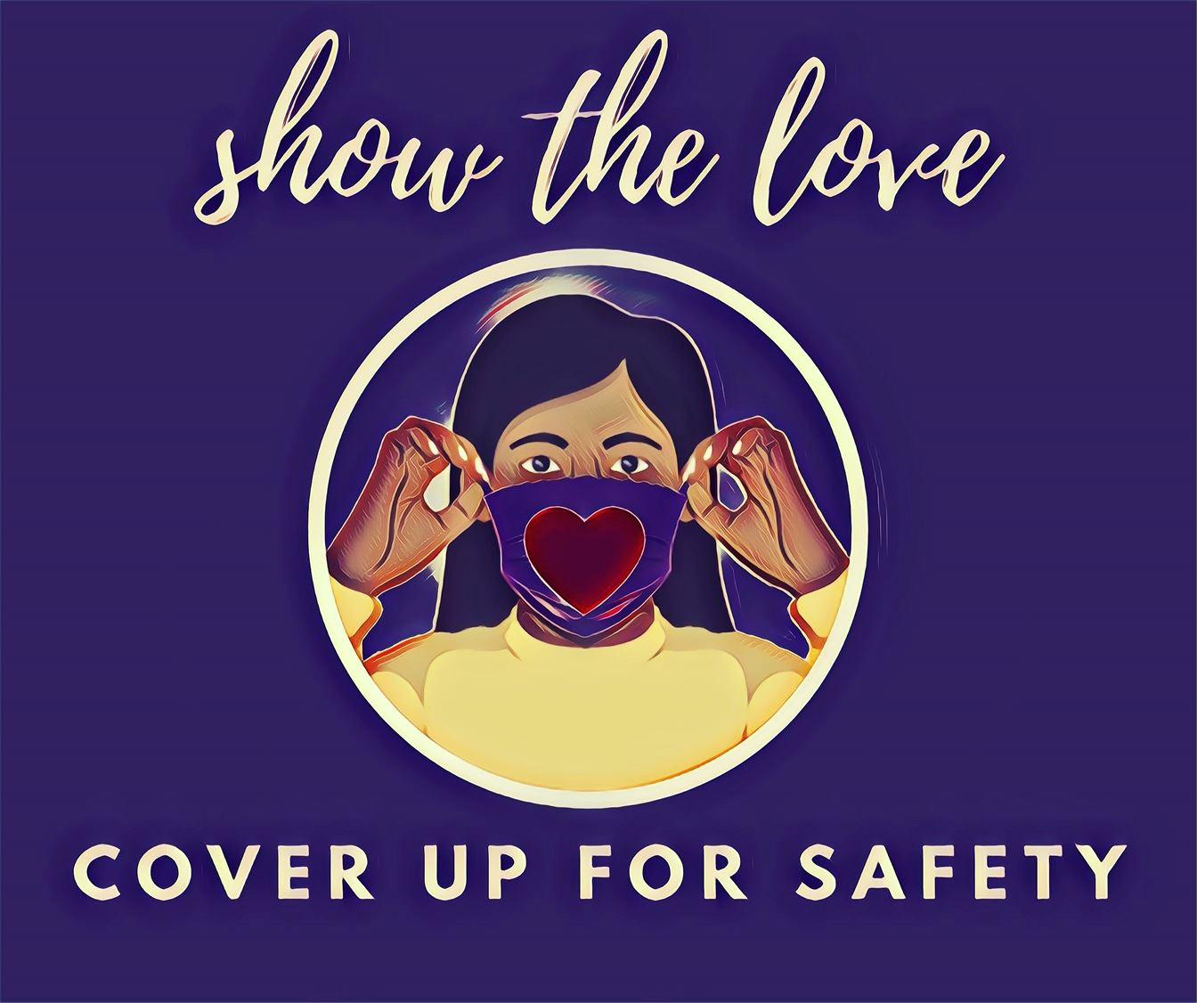Show the Love (Wear a Mask) graphic